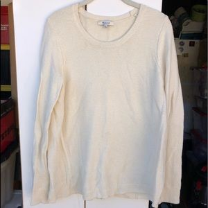 Madewell Knit High Low Crew Neck Sweater